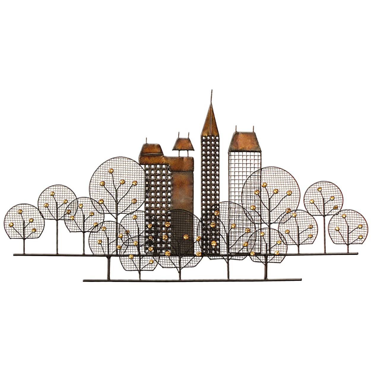 Metal Wall Art City Skyline