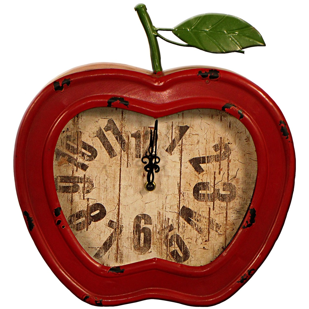 Red Apple Clock