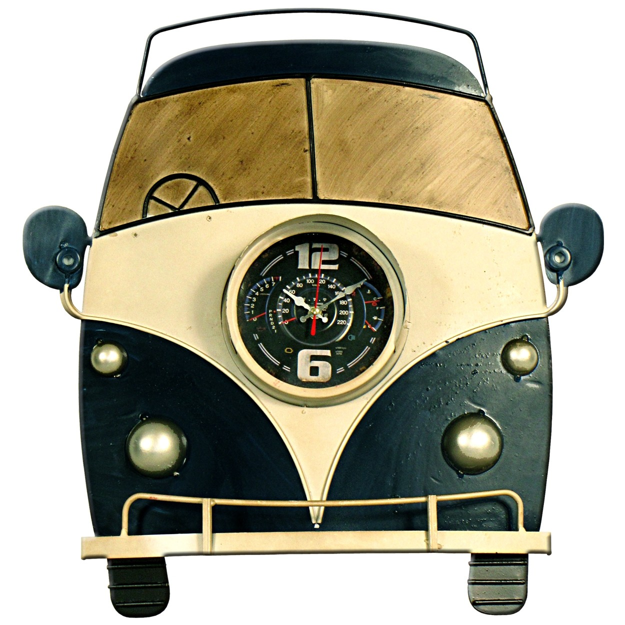 Blue Bus Wall Clock