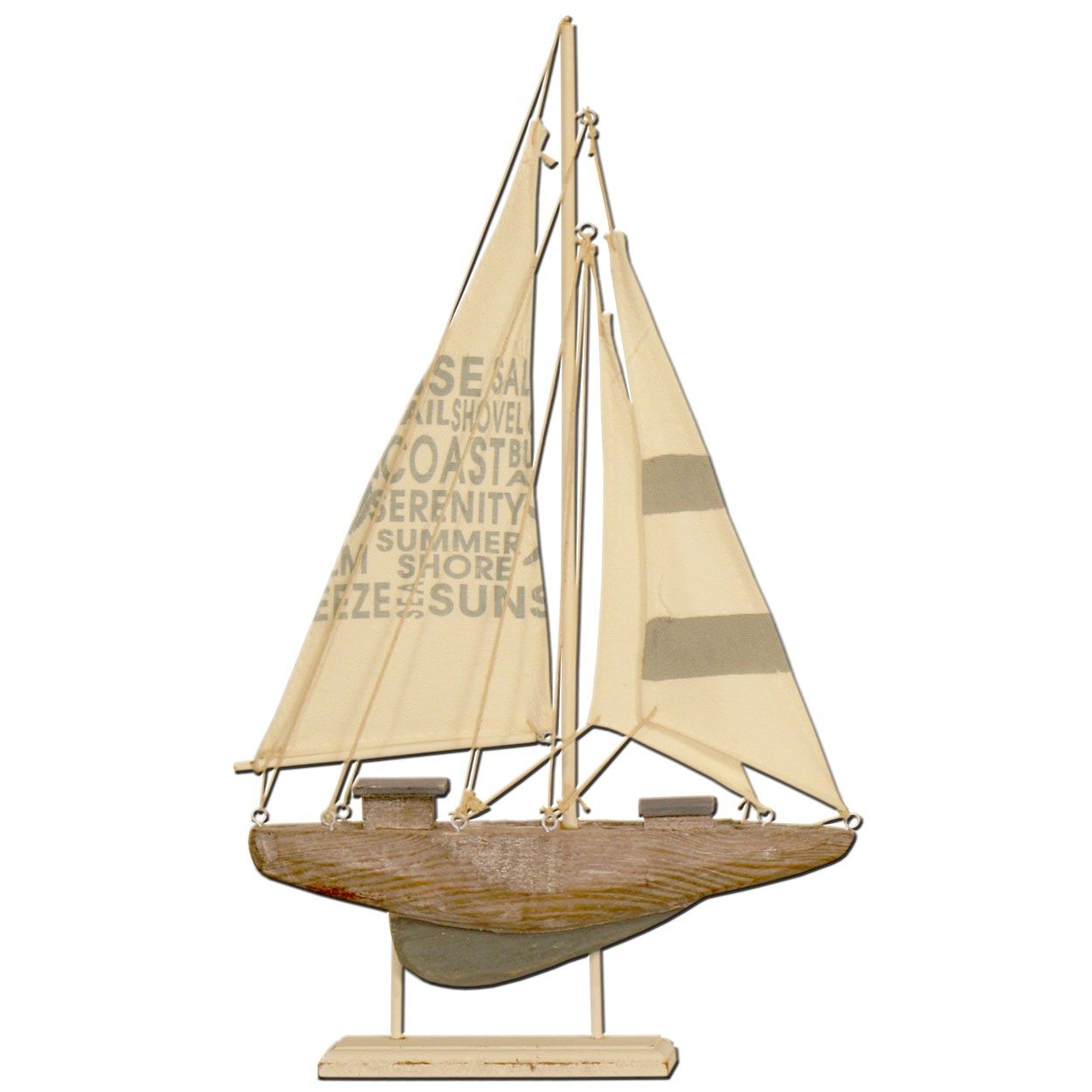 Wood Yacht on Stand