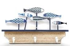 Fish Wall Deco with Hooks