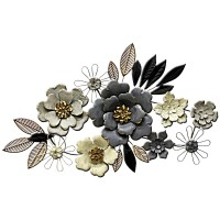 Grey Floral Wall Art