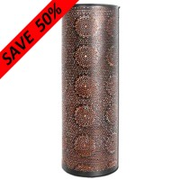 Copper/Black T-lite Cylinder Holder