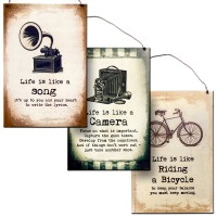 "Metal Signs ""Life Is . . """