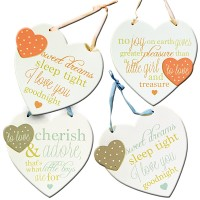Baby Phrase Heart Plaques
