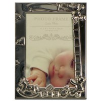 Silver baby P/frame  10x15cm