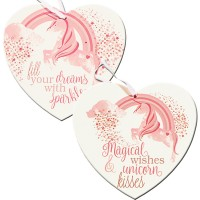 Unicorn Heart Plaque