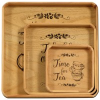 Wood Tray Set
