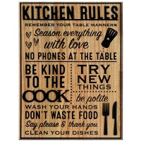 Heartwood Kitchen Rules Wall Plaque