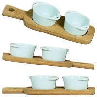 Bamboo Tray w. Dishes