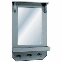 Grey mirror w. Shelf