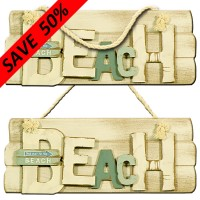 """Beach"" Hanging Plaque"