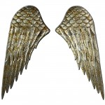 Metal Wall Art Angel Wings Set/2