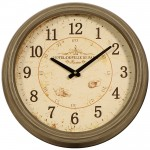 Metal Wall Clock Grey Round