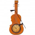 Metal Art Violin Wall Clock
