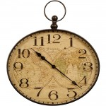 Metal Wall Clock w. Fob