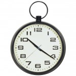 Black Wall Clock w. Fob