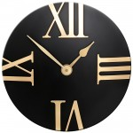 Black/Gold Wall Clock
