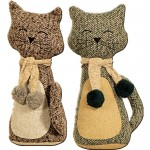 Cat w. Scarf Doorstop